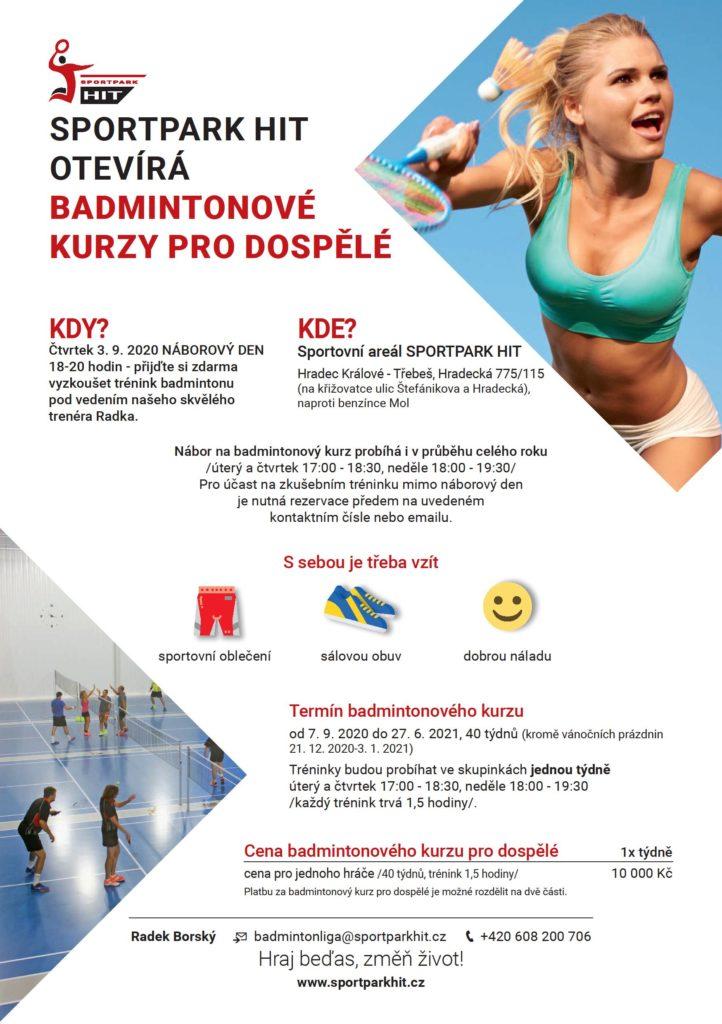 Tréninky badmintonu pro dospělé